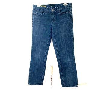 Jcrew toothpick dark wash jeans